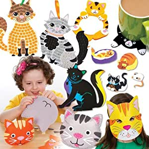 Cat arts and crafts set for children to make decorate and for Arts and crafts sets for kids