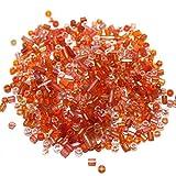 Beadsnfashion Seed Bugles Beads Orange A...