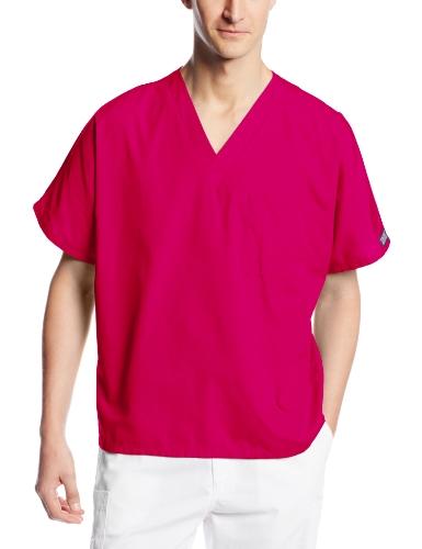 Cherokee Uniforms Klassisch: Unisex Kasack, Azalee (dunkles Pink), Gr. S (Da:38/40 He:48/50) - Medizinische Uniformen Cherokee