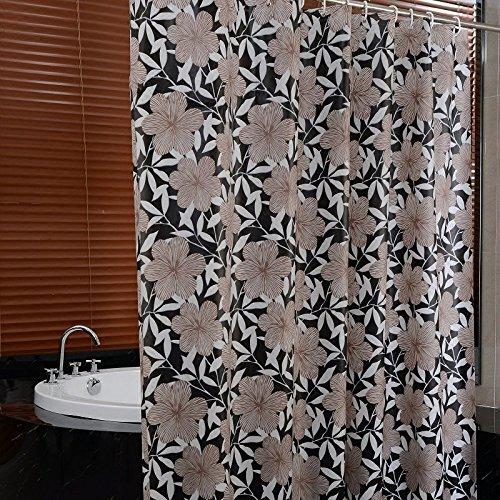 BYLE Anti-Mildew gruesa cortina de ducha con mampara de ducha ,180x200cm