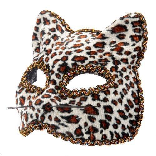 n TM 619219292511Leopard venezianischen Masquerade Halloween Gatto Feline Cat Fancy Kleid Kostüm Zubehör Ball Party Augenmaske, Unisex, ONE SIZE (Masquerade Ball Kleider Für Halloween)