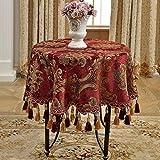 LSJT Runder Tischdecketischdecketischdeckegewohnheitsquadrattischdecke großer Runder Tischdecke Quadratischer Couchtischtischdeckenwohnraum der Tischdecke europäischen (Farbe : A, größe : D260cm)