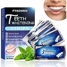 Tiras de Blanqueamiento Dental,Tiras Blanqueadoras,Teeth Whitening,28 Bandas Blanqueadoras Dientes Blanqueamiento de dientes tiras con avanzada tecnología antideslizante