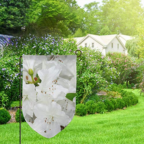 Kentucky Blue Pole (IconSymbol Garden Outdoor Flag Stand Banner Azalea Palestrina Flowers- Decorative Weather Resistant Double Stitched 18 x 12.5 Inch)