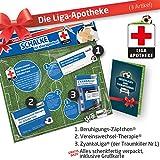 Geschenk-Set: Die Liga-Apotheke für S04-Fans | 3X süße Schmerzmittel für FC Schalke 04 Fans Fanartikel der Liga, Besser ALS Trikot, Home Away, Saison 18/19 Jersey
