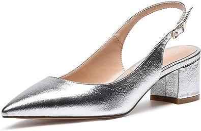 CASTAMERE Scarpe Donna Eleganti con Tacco Medio con Cinturino Dietro la Caviglia Tacco a Blocco Tacco Alto 5 CM