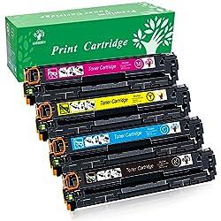 GREENSKY 4 paquetes cartucho de tóner compartible de reemplazo para HP 131X CF210X CF211A CF212A CF213A para HP LaserJet Pro 200 Color M251n, Color M276n, M251nw, M276nw Impresora - (1 Negro, 1 Cian, 1 Amarillo, 1 Magenta)