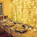 LE Lichterkette, LED Lichterkettenvorhang 306 LEDs, 8 Modi 3m x 3m Sternen LED Lichterketten,Warmweiß, ideal für Weihnachtsdeko, Deko, Party, Hochzeit usw. Vergleich