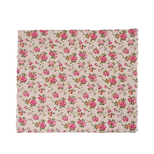 Foto de Tela de algodon retro de lino rosas liberty para tapizar sillas descalzadoras para manualidades, costura cojines guirnaldas caravanas escaparates cortinas 97 cm x 50 cm .de OPEN BUY