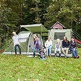 skandika Gotland 6 Personen grün, Familien-Zelt, wasserdicht durch starke 5.000 mm Wassersäule. Großes, geräumiges und robustes Outdoor...