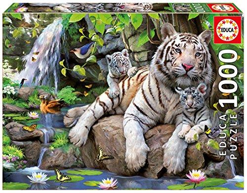 Educa 14808 1000 - Tigri Bianchi Di Bengala