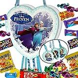 Pinata Frozen Komplettset gefüllt mit 154 Teilen Süßigkeiten Zugpinata Frozen die Eiskönigin Geburtstag Feier Party Kindergeburtstag Partyset