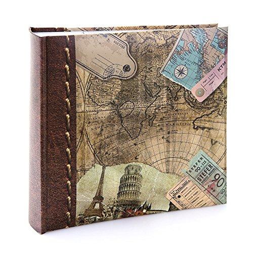 Kenro Reise Urlaub und Serie Memo Fotoalbum, Old World Map Design, für 200Fotos 15,2x 10,2cm–hol118, 18 x 13 cm (Classic-serie-jacke)