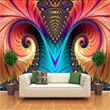 Makeyong Foto Murali Personalizzate Carta Da Parati Non Tessute 3D Art Abstract Pattern Colore Carving Living Room Tv Sfondo Wall Decor Wallpapers-250x175cm