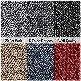 Triclicks 20 x tapijt 5 QM high-performance woning Commerciële detailhandel Winkel Premium vloertapijten Vloertegels Duurzame antislipvloer, elk 50 x 50 cm (Lichtgrijs)