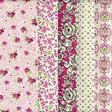 Textiles français Stoffpak Stoffpaket 5 Stoffe - rosa,