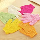 2 pcs Shower Bath Gloves Exfoliating Wash Skin Spa Massage Body Scrubber Cleaner