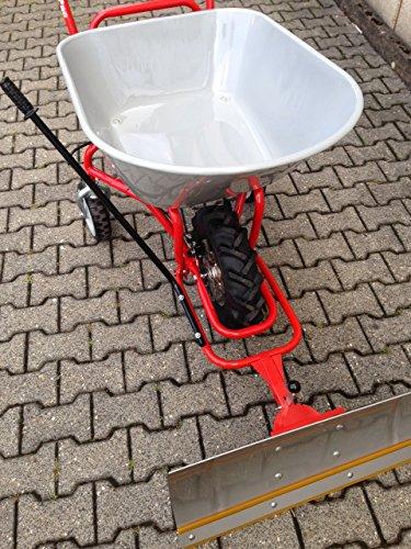 POWERPAC Schneeschild 740mm Edelstahl mit Gummileiste und Adapter passend für ED120 - AKKUSCHUBKARRE ELEKTROSCHUBKARRE AKKUSCHNEERÄUMER AKKUSCHNEESCHIEBER SCHUBKARRE DUMPER MOTORSCHUBKARRE -