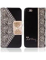 Malloom® Coque Pour iPhone 6 - Étui À Rabat En Cuir (Noir) Pour iPhone 6