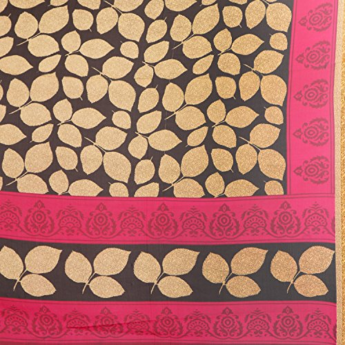 Jaanvi Fashion Women's Georgette Printed Saree (uniform-01-02_Multi-color)