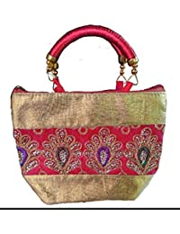 Hand Bags For Woman Low Price Stylish Red Embroidered Below 300