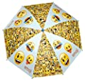 Emoji Regenschirm Stockschirm Emoticon Smiley Winky 48cm