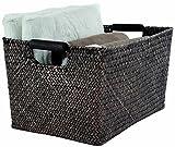 Rangement & Cie Sampan RAN6523 - Cesto in giunco intrecciato, colore: Marrone scuro