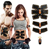 SHENGMI ABS Trainer Ab Belt ,Abdominal Muscles Toner,Body Fit Toning Belt,Fitness Training Gear Home/Office Ab Workout Equipment Machine for Men&Women (Abs Fit)