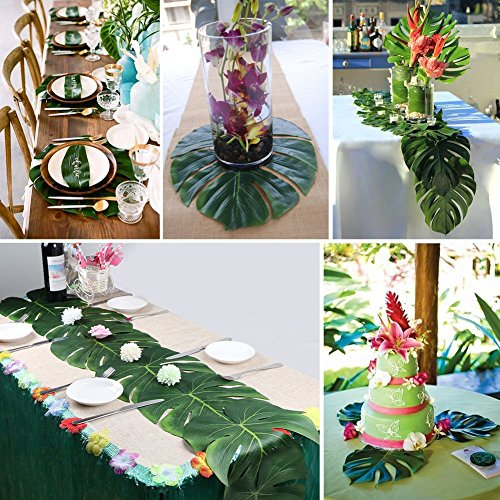 Hawaiian-faldn-de-hierba-artificial-12pcs-suave-hojas-de-palmera-Tropical-playa-parte-decoracin-flores-simulacin-hojas-jungla-tema-Decoracin-casarse-multicolores-flores-jardn-verano-de-Picnic-Vajilla-