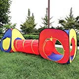 #8: PIGLOO® 3-Piece Children Play Tent Set of Square Cubby, Triangle Cubby and Spring-Pop Tunnel