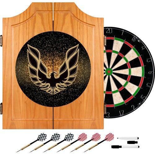 Trademark Gameroom Pontiac Firebird Dart-Schrank aus Holz, Schwarz