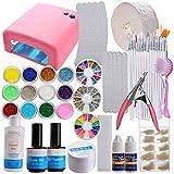 vanyda 18in 1Starter Kit Art Set UV Gel de uñas UV Lámpara principiantes Set