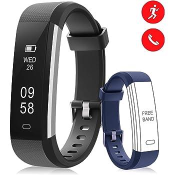 BANLVS Pulsera de Actividad Inteligente, Pulsera Actividad con Monitor de Sueño y Calorías, Podómetro Control Cámara Notificación de Mensajes de Pulsera Inteligente Reloj para iOS y Android