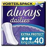 Always Slipeinlagen Extra Protect Long Plus, Vorteilspack, 1er Pack (1 x 40 Stück)