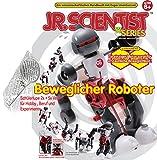 EDU Toys Tanzender Roboter mit Purzelbaummodus Bausatz mit ENGL. + deutschem Lehrheft Tumbling Robot und Technikerhandlupe 2+5fach Vergrößerung