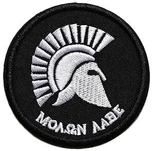 spartan spartiate grec guerrier ecusson thermocollant 7,5cm patche badge