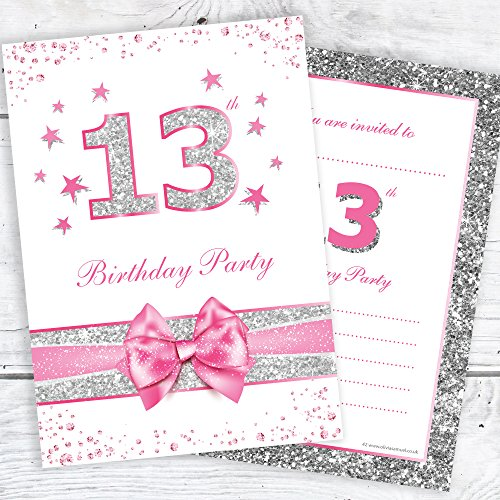 13th Birthday Invitations Amazoncouk