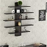 BLUEWUD Caselle Engineered Wood Lifestyle Wall Shelf/Bookshelf/Display Rack.