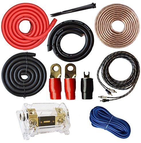 Soundbox Verbunden 0Gauge Amp Kit Verstärker installieren 1/0Ga Pro Installation Kabel, 5000W - Amp Pro-car-audio-installation