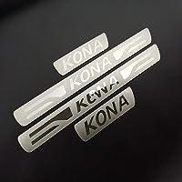 per Audi Sline Door Sill Scuff Pedale Protettore Decorazione delle Batticalcagno Lusura Previene Sticker Accessori HUAQIEMI 4Pcs Auto Fibra di Carbonio Battitacco
