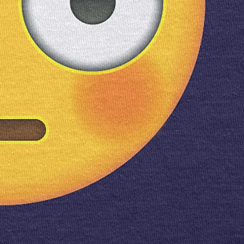TEXLAB - Flushed Face Emoji - Damen T-Shirt Navy