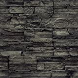 murando - Vlies Tapete - Deko Panel Fototapete - Wandtapete - Wand Deko - 10 m Tapetenrolle - Mustertapete - Wandtapete - modern design - Dekoration - Steine Steinwand Steinoptik Wand f-A-0173-j-c