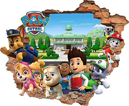 Paw Patrol wandtattoo für Kinderzimmer paw patrol Wandaufkleber
