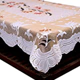 #6: Kuber Industries™ Center Table Cream Floral Design in Cloth 40 * 60 Inches - KI3556
