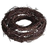 Rayher Hobby 65038000 Rebenkranz, 25 cm Durchmesser, Holz, Braun/Natur, 2.5 x 2.5 x 0.8 cm