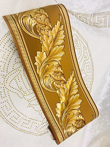 Home Bordüre Medusa Lorbeer gold Band Tapete Medusa Style 5 Meter Rolle (1)