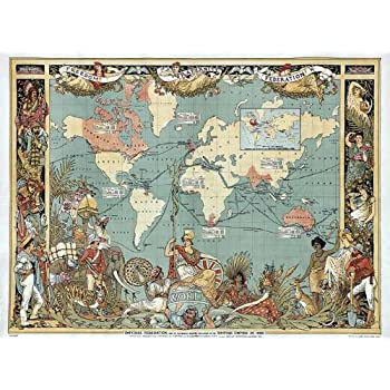 Maps british empire 1886 imperial illustrated people world poster reproduction imperial federation map of the world showing extent of british empire in 1886 by m p formerly a1 poster 71 x 58 cm victorian british empire gumiabroncs Choice Image