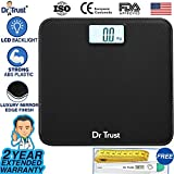 #2: Dr Trust Absolute Leather Personal Digital Scale Weighing Machine for Body Weight (Black)