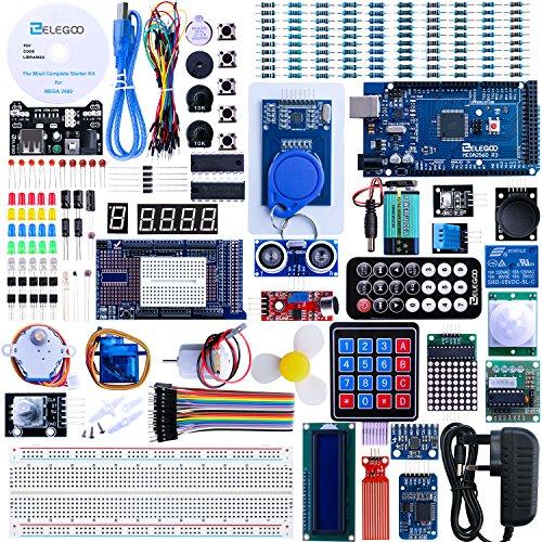 Elegoo Mega 2560 Project The Most Complete Ultimate Starter Kit w/TUTORIAL, MEGA 2560 controller board, LCD1602, Servo, Stepper Motor for Arduino Mega 2560