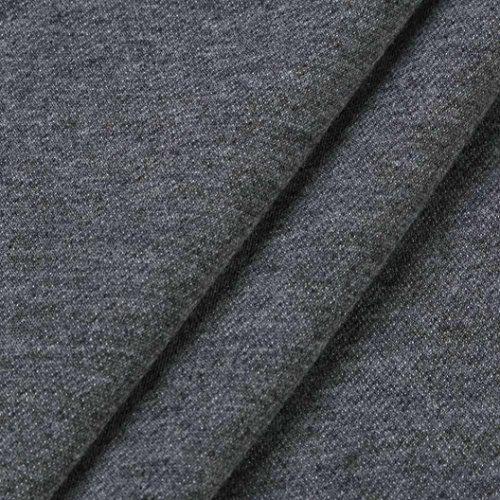 feiXIANG Donna T-shirt - Camicetta - Camicia Donne Manica lunga Patchwork Plaid Colletto Turn-Down Maglietta Camicetta Superiore - poliestere Grigio